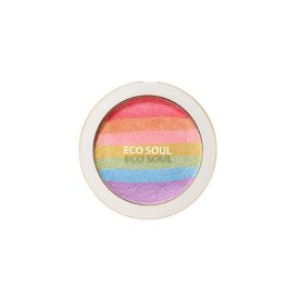 the SAEM Eco Soul Rainbow Blusher