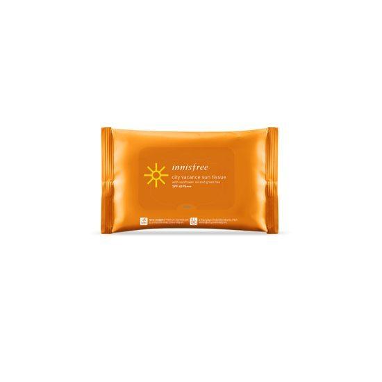 Innisfree City Vacance Sun Tissue SPF40/PA+++