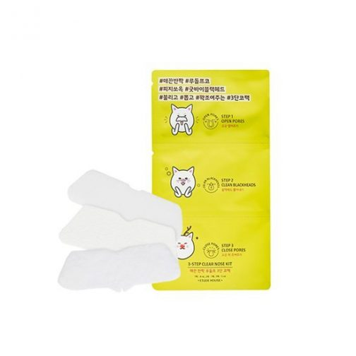 EtudeHouse 3 Step Clear Nose Kit - 5 Sheets