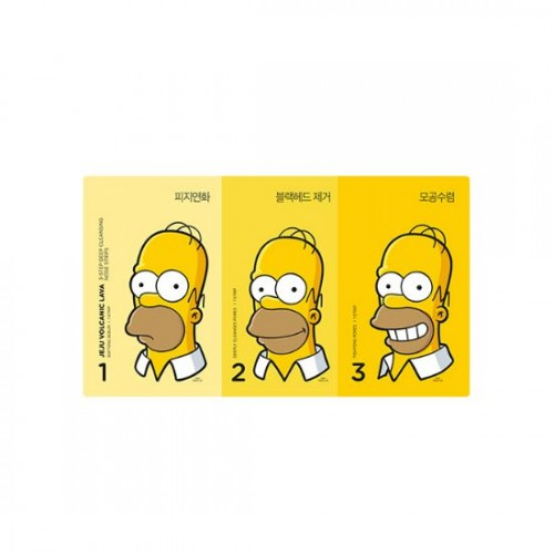 TheFaceShop THE SIMPSONS Jeju Volcanic Lava 3-Step Deep Cleansing Nose Strips