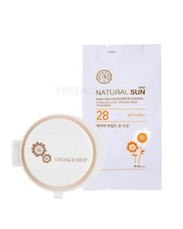 The Face Shop Natural Sun Eco Baby Mild Sun Cushion SPF28 PA ++ (Refill)