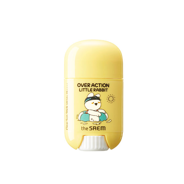 the SAEM Eco Earth Power Clear Sun Stick (Over Action Little Rabbit Edition)