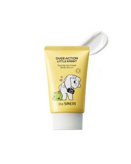 the SAEM Eco Earth Power Tone Up Sun Cream (Over Action Little Rabbit Edition)
