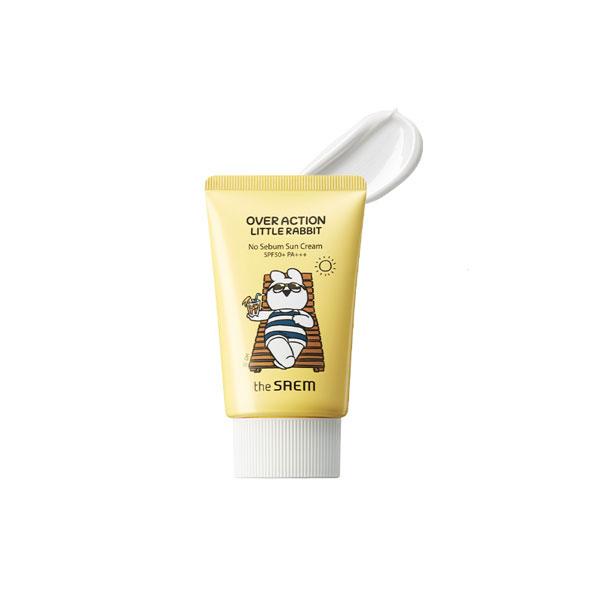 the SAEM Eco Earth Power No Sebum Sun Cream (Over Action Little Rabbit Edition)
