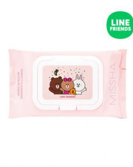 Missha Super Aqua Cleansing Water In Tissue (Line Friends)