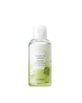 the SAEM Healing Tea Garden Green Tea Lip & Eye Remover