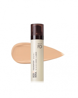 the SAEM ECO SOUL Real Fit Foundation