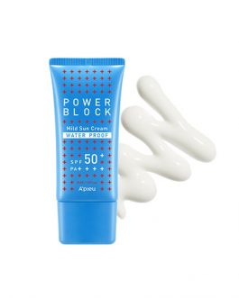 A'PIEU Power Block Water Proof Mild Sun Cream SPF50+ PA++++