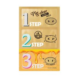 Holika Holika Pig Clear Black Head 3-Step Kit Honey Gold