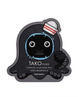 TonyMoly Tako pore Charcoal Clear mask Pack
