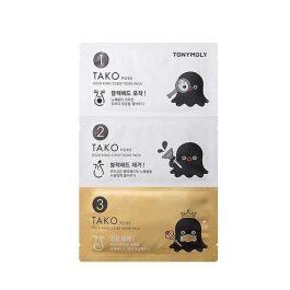Tonymoly Tako Pore Gold King  3-Step Nose Pack